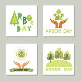 Arbor day15. Arbor Day. Ecology concept design. Green Eco Earth. Vector illustration for greeting card, poster, banner, eco design vector illustration