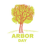 Arbor day5. Arbor Day. Ecology concept design.Vector illustration Stock Image