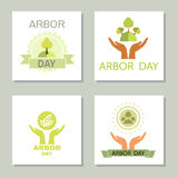 Arbor day4. Arbor Day. Ecology concept design.Vector illustration Stock Photography