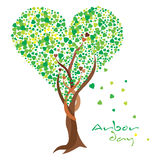 Arbor Day. Heart shaped tree celebrating the love for Arbor day royalty free illustration
