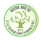 Arbor Day icon. Oak tree. Vector illustration. Royalty Free Stock Photos