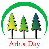 Arbor Day Logo Illustration Stock Photos