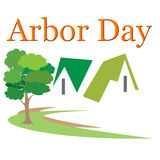 Arbor Day Logo Illustration. Logo design for use on Arbor Day event promotions, events, and occasions stock illustration