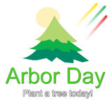 Arbor Day Logo Illustration. Logo design for use on Arbor Day event promotions, events, and occasions vector illustration