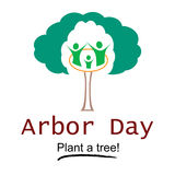 Arbor Day Logo Illustration. Logo design for use on Arbor Day event promotions, events, and occasions royalty free illustration