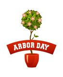 Arbor day sign Stock Images