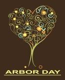 ARBOR DAY,tree,heart stock illustration