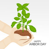 Arbor Day. Vector illustration of a background for Happy Arbor Day stock illustration