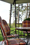 Arbor forged garden furniture Stock Photography