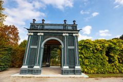 Arbor in the garden in Vienna, Austria. Arbor in the garden, Schonbrunn Palace in Vienna, Austria stock image