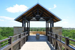 Arbor Hills Nature Preserve. The observation tower at the Arbor Hills Nature Preserve, in Plano, Texas. From this look out you can see the city around Stock Images