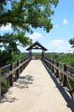 Arbor Hills Nature Preserve. The observation tower at the Arbor Hills Nature Preserve, in Plano, Texas. From this look out you can see the city around Stock Photos