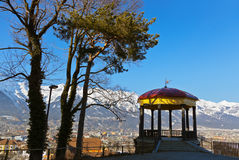 Arbor in Innsbruck Austria. Architecture and nature background Stock Photography