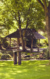 An arbor in a in a japanese garden Stock Images