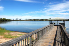 Arbor at the lake. In Perth city, Western Australia Royalty Free Stock Image