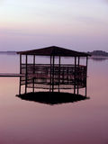 Arbor by the lake. Arbor on the surface of a lake Royalty Free Stock Photography