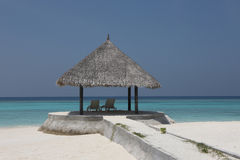Arbor on Maldives beach. The arbor on Maldives beach Royalty Free Stock Image