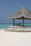 Arbor on Maldives beach Royalty Free Stock Images
