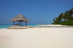Arbor on Maldives beach. The arbor on Maldives beach Stock Images
