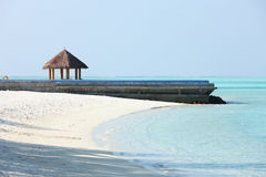 Arbor on Maldives beach. The arbor on beautiful beach at Maldives Stock Photos