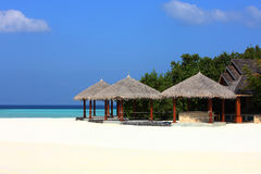 Arbor on Maldives beach. The arbor on beautiful beach at Maldives Stock Images