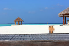 Arbor on Maldives beach. The arbor on beautiful beach at Maldives Stock Photo