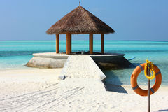 Arbor on Maldives beach. The arbor on beautiful beach at Maldives Royalty Free Stock Image