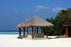 Arbor on Maldives beach. The arbor on beautiful beach at Maldives Royalty Free Stock Photos