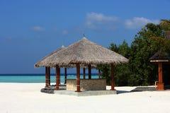 Arbor on Maldives beach Royalty Free Stock Photos