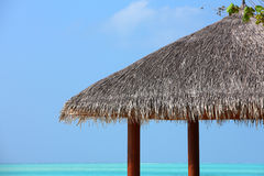 Arbor on Maldives beach. The arbor details on beautiful beach at Maldives Royalty Free Stock Photo