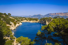 Arbor of Port Miou at Cassis city, France Royalty Free Stock Image