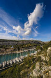 Arbor of Port Miou at Cassis city, France. Arbor of Port Miou at Cassis city inFrance Royalty Free Stock Image