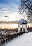 Arbor on the quay in the center of Yaroslavl. Russia Royalty Free Stock Image
