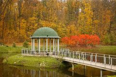 Arbor in the river. Arbor near river .outdoor Kiev. autum royalty free stock photo