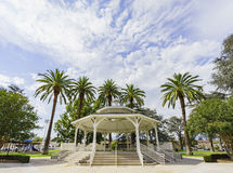 Arbor in Temple City Park. With blue sky Royalty Free Stock Photo