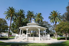 Arbor in Temple City Park. With blue sky Royalty Free Stock Images