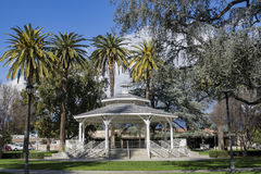 Arbor in Temple City Park. With blue sky Royalty Free Stock Image