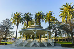 Arbor in Temple City Park. With blue sky Stock Image