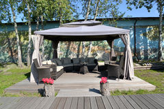 Arbor tent in the territory of the center of rest, Kaliningrad Stock Photography