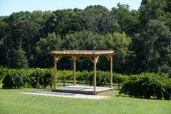 Arbor in Winery Stock Photos