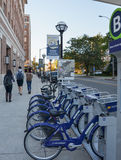 ArborBike rental station, Ann Arbor, MI. ANN ARBOR, MI - OCTOBER 10: ArborBike rental stations, such as the one shown here in Ann Arbor, MI on October 10, 2015 Royalty Free Stock Photos
