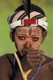 年轻Arbore人在南Omo,埃塞俄比亚 免版税库存图片