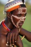 年轻Arbore人在南Omo,埃塞俄比亚 免版税库存照片