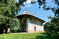 Arbore. Monastery from Romania in summer stock images