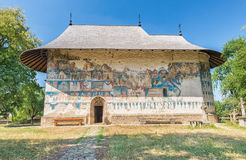 The Arbore Monastery. Is a painted monastery church built in 1502, and dedicated to the Beheading of St. John the Baptist, it is part of Moldavia UNESCO World Stock Photography