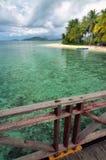 Arborek Beach Papua Indonesia. Beautiful Scenery Arborek Beach, one of Raja Ampat Island's beach. Papua, Indonesia Stock Photo