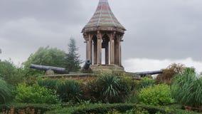 Arboreto contenuto monumento Nottingham Regno Unito fotografia stock
