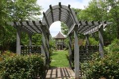 Arboreto del condado de Hunterdon del Gazebo Fotos de archivo libres de regalías