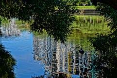arboreto Ekaterinburg 2018 augusto un posto per avere un resto fotografia stock