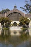 Arboretum im Balboa-Park mit reflektierendem Pool Lizenzfreie Stockfotos